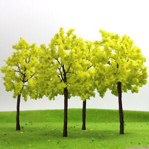 R14070 20pcs Model Train Layout O Scale 1:50 Yellow Model Trees Autumn 14cm