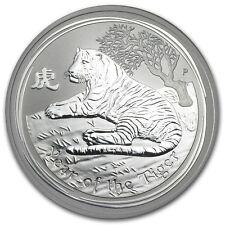 Perth Mint Australia $ 0.5 Lunar Series II Tiger 2010 1/2 oz .999 Silver Coin
