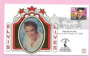 "USA 1993 BENHAM FDC - ""ELVIS LIVES"" Elvis Presley 29c. - First Day MEMPHIS (4)"