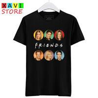 Friends TV Series TV Show Logo Men's Black T-Shirt Tees Size S-3XL