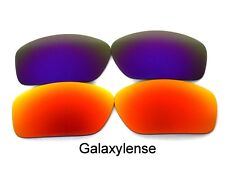 Galaxy Replacement Lenses For Oakley Scalpel Sunglasses Red&Purple Polarized