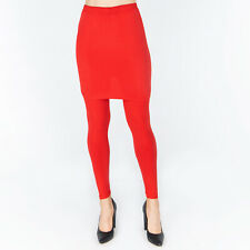 NEW Womens Ladies Pencil Seamless Stretchy FullLength Leggings with Skirt