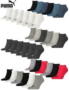 PUMA Trainer Socks Mens Womens Unisex Cotton Rich Sneaker Sports Sock 6 Pairs