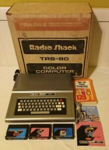 Radio Shack TRS-80 Color Computer CoCo 26-3004A TESTED WORKS W/ BOX & 3 GAMES