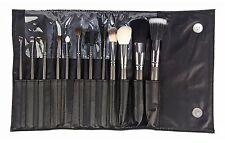 Beaute Basics 12 Piece Deluxe Professional Makeup Brush Set in Black Case