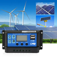 10/20/30A PWM Dual USB Solaire Panneau Batterie Régulateur Charge Manette 12/24V