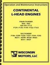 Continental L Head F162 F163 Engine Operations Maintenance Amp Overhaul Manual