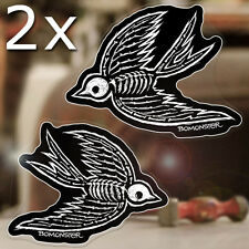 2 x pieces BOMONSTER Sparrows sticker decal old school tattoo hot rod 2.75""