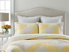 ONE Martha Stewart Collection Patchwork Eyelet  Reversible Quilted Standard Sham