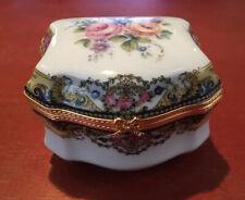 Limoges France Imperia Trinket Box 22 K