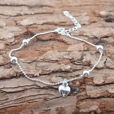 Pendant Summer Love Aesthetic Silver Plated Jewelry Anklet Foot Chain Gift