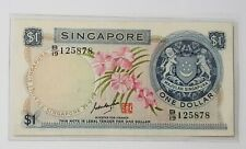 Singapore $1 Orchid Banknote GKS B/19 125878