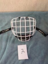 Bauer Profile Ii Ice Hockey Helmet Face Mask Cage Small White Certified Mask 2