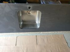 Grey Silestone Worktop with Blanco Basin and Matching Upstands