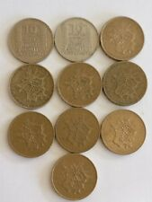 X 10 French 10 Franc coins 1949-1980