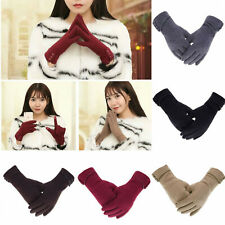 Fashion Women Girls Winter Warm Windproof Thermal Gloves Touch Screen Mittens