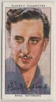 Basil Rathbone English Stage Film Movie Actor 1930s Trade Ad Card