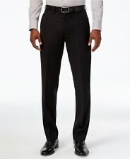 $325 RYAN SEACREST men BLACK WOOL FIT FLAT FRONT DRESS TROUSERS PANTS 36 W 32 L