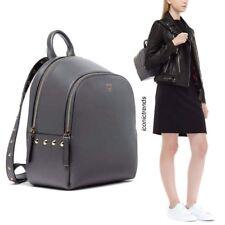 NWT MCM Limited DUCHESS POLKE STUDS Leather Mini Backpack GREY MWK6ADK27 EF001
