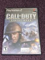 Call of Duty Finest Hour w/Manual PS2 Playstation 2
