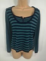 WOMENS MARKS & SPENCER BLUE KNITTED BUTTON UP SMART CASUAL CARDIGAN JUMPER UK 12