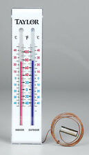 Taylor  9-3/4 in. Indoor and Outdoor  Tube Thermometer