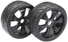 Absima 1/8 Buggy Street Wheels with Tyres Black 2pcs 2530003