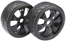 Absima 1/8 Buggy Calle ruedas con neumáticos Negro 2pcs 2530003