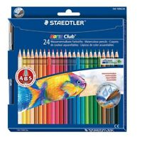 10 scatole di pastelli acquerellabili Staedtler da 24 con ABS + pennello