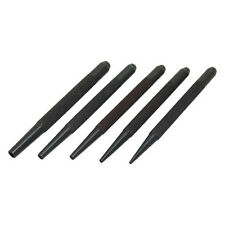 5 Piece 1.5mm-5mm Nail Punch Set - Hardened Tempered Steel Knurled Grip