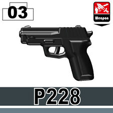 P228 (W170) Pistol compatible with toy brick minifigures Army SWAT