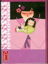 Carte de voeux naissance bébé fille kokeshi