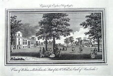 WILTSHIRE, WILTON HOUSE EARLS OF PEMBROKE, England Displayed Antique Print 1769