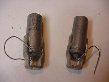2 NOS CO 134L Old Mil .13 MFd  150 VDC Micamold Metal Case Cap. Screw