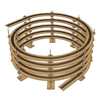 "Single Track Helix For Radius 22"" Tracks (Diameter: 44"", HO Scale)"