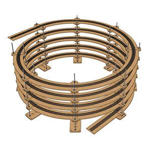 "HO Scale Single Track Helix For Radius 22"" Tracks (Diameter: 44"")"
