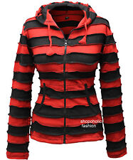Outstitiched Pixie Hoodie Stripe Hippie Boho 100% Cotton Superb Womens  Jacket