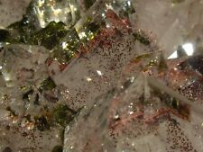Spectacular Huge Red Spot Phantom Clear Quartz Cluster w/ Epidote Inside and On