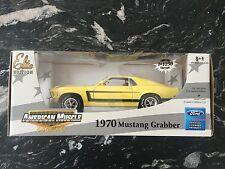 ERTL 1/18 AMERICAN MUSCLE 1970 YELLOW MUSTANG GRABBER ELITE EDIT 1/ 1250 # 39060