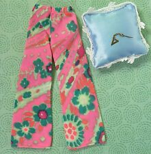 Vintage Barbie Clothes 3406 Evening In Floral Pants 1 Triangle Earring EXLT  sd
