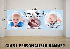 Personalised GIANT Large Boys Christening Baptism Poster Banner N2