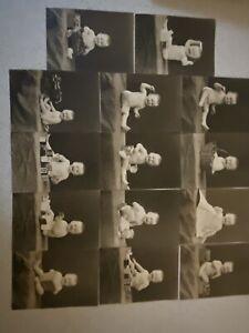 14 Antique Photographs Baby Studio Typewriter Block Toothbrush 5x7s Rochester NY