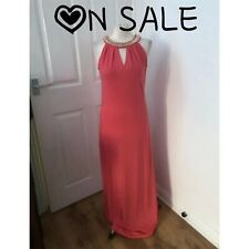 ON SALE Women's Pink dress by Maia Hemera ladies Maxi dress size L 14/16