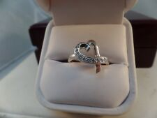 TIFFANY & Co Paloma Picasso  Diamond Loving Heart Ring 18K White Gold