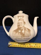 Small Teapot Blue & White By Mackwoods Of Ceylon Very Rare.