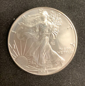 1994 AMERICAN SILVER EAGLE 1 OZ COIN UNCIRCULATED CONDITION