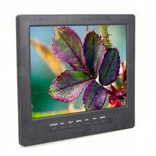 "8""Color L8009 800x600 TV,AV,VGA Input Monitor CCTV Camera PC Screen+BNC Cable HQ"