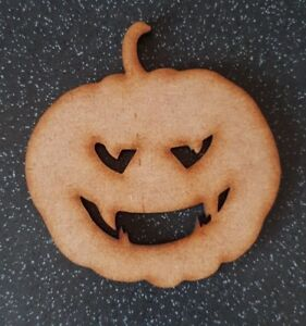 Dracula Pumpkin Halloween Blank Wood15 20 30 40cm Unpainted MDF Scary Party