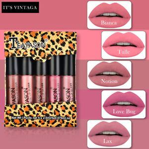 5Pcs/Set Matte Liquid Lipstick Waterproof Long Lasting Lip Gloss Women Cosmetic