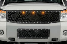 Custom MARINE CAMO + 3 Amber Raptor Lights Grille Kit for 2008-2014 Nissan Titan